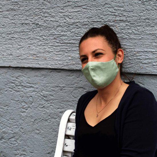 Hellgrüne Maske