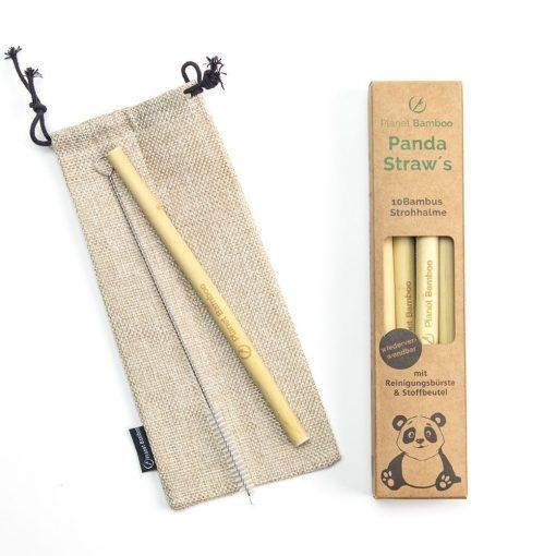 Bambus Trinkhalme 10er