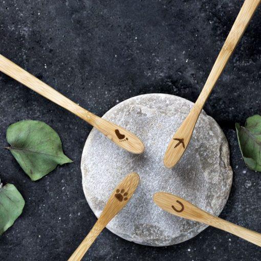 Bambus Zahnbürsten Rosa