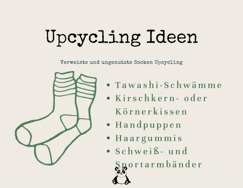 Verwaiste und ungenutzte Socken Upcycling